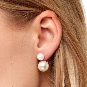 Jewelry - Pear Ear jacket Earrings